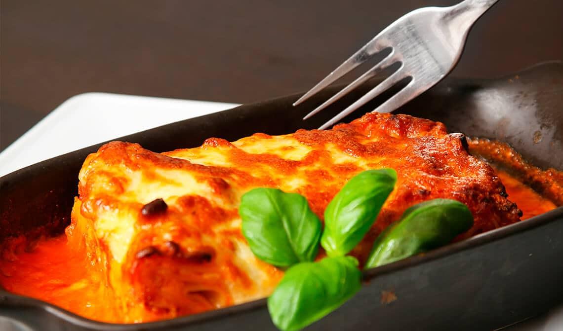 lasaña de atún y verduras