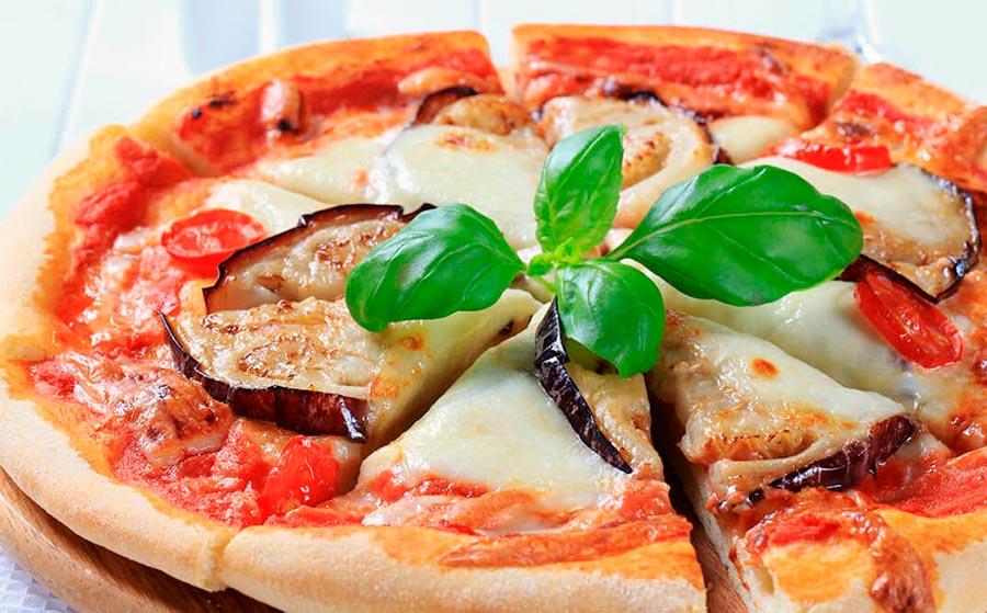 Pizza de berenjena