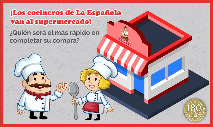¡Los cocineros de La Española van al supermercado!: el juego imprimible para jugar toda la familia