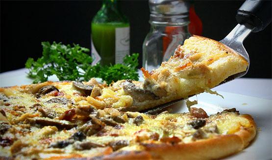 pizzas con aceite de oliva